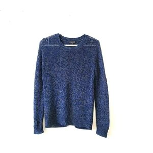 ARITZIA T. BABATON Knitted Open Back Blue Sweater